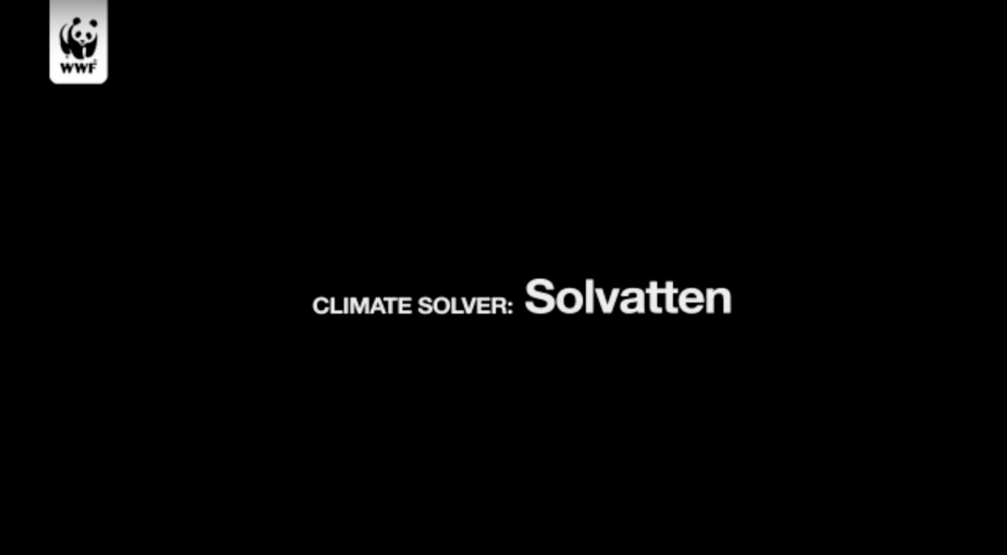 Solving Climate issues with Solvatten